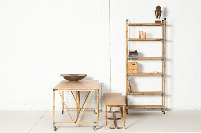 Table Moso, Bench Guadua Cupboard Billy