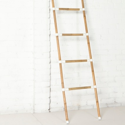 bamboo ladder withmetal fittings