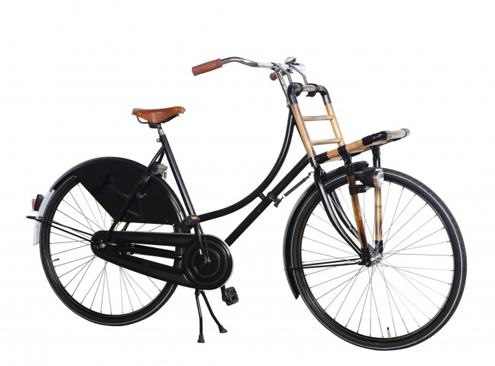 Transporter bicycle with bamboo rack