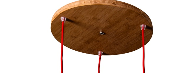 ceiling plate bamboo round